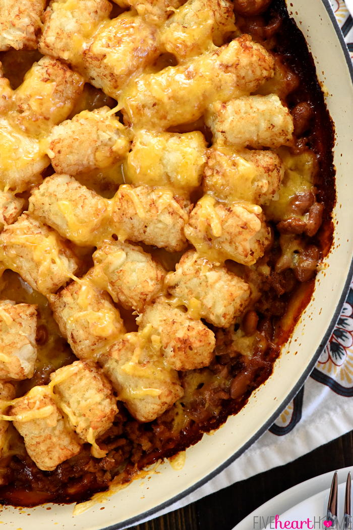 BBQ Beef Sloppy Joe Tater Tot Casserole - Together as Family