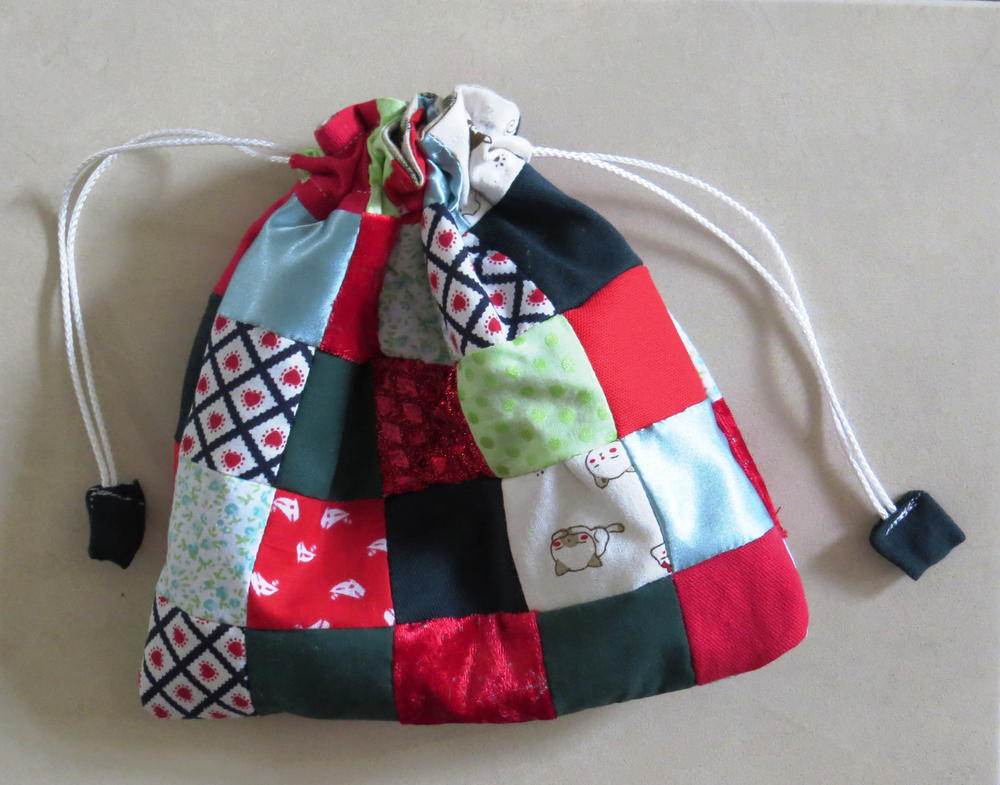 Scrappy Patchwork Gift Bag Allfreesewing Com