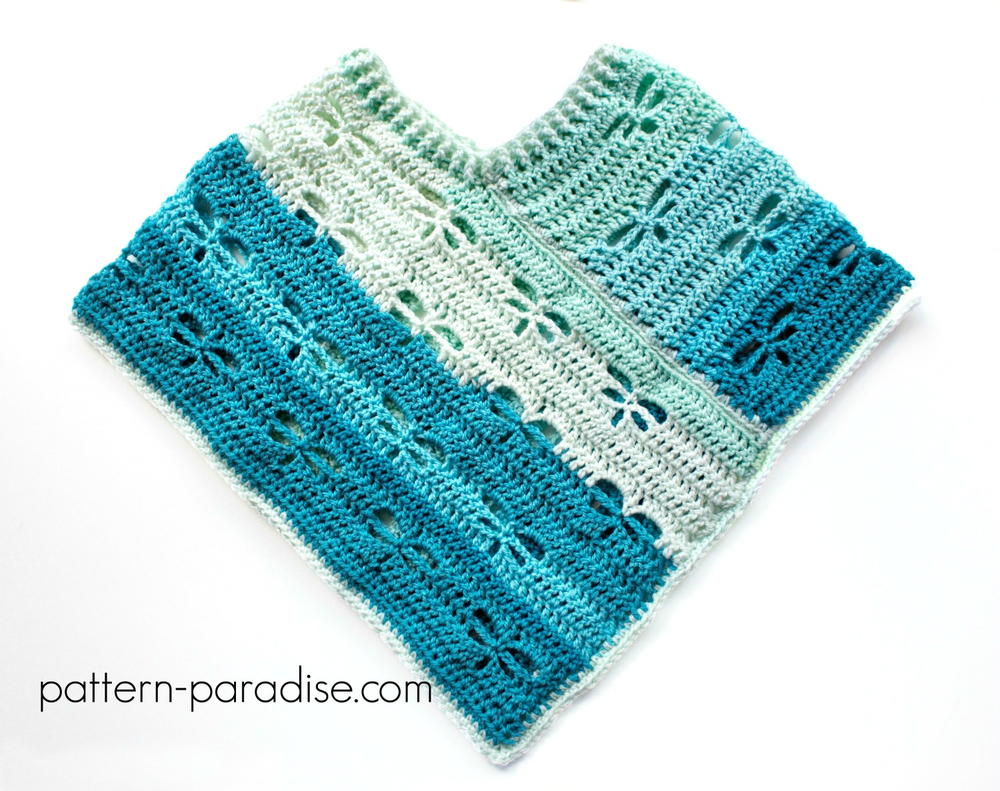 Dragonfly Crochet Afghan Pattern : Dragonfly Crochet Poncho AllFreeCrochet.com
