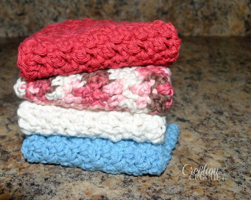 Up and Down Crochet Dishcloth