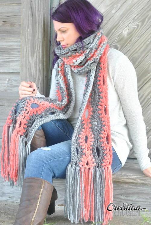 Super Crochet Scarf Favecrafts Com