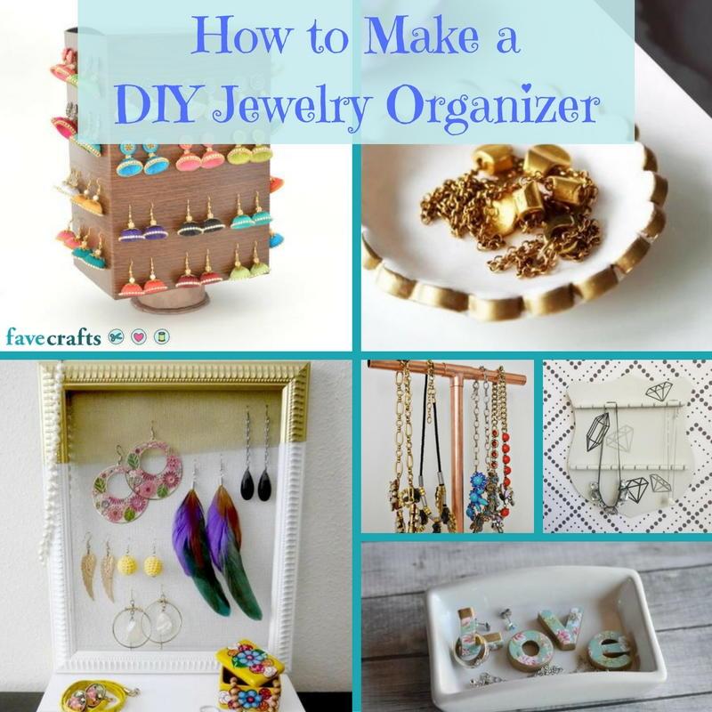 How To Make A Diy Jewelry Organizer Favecrafts Com