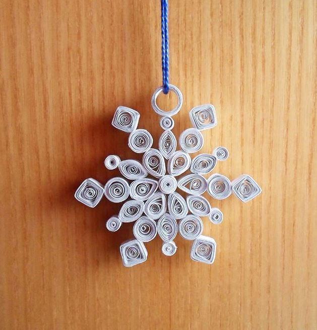 Winter swirls snowflake ornament for Paper swirl decorations