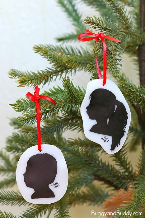Special Silhouette Homemade Ornaments