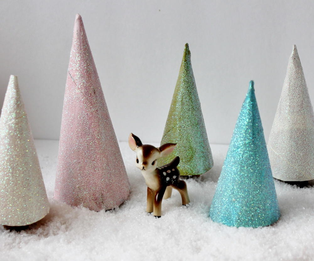 Glittery Toilet Paper Roll Christmas Trees ...