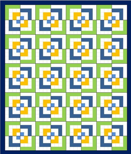 Half Log Cabin Quilt Pattern FaveQuilts.com