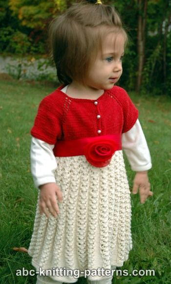 Ravishing Rose Toddler Christmas Dress AllFreeKnitting.com
