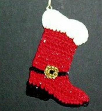 Santa's Christmas Cowboy Boot