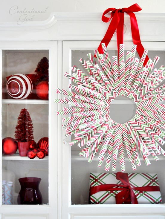 Wrapping Paper Wreath Allfreechristmascrafts Com