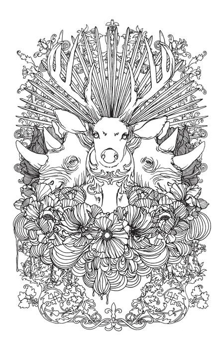 Stunning Wild Animals Coloring Page Favecrafts Com