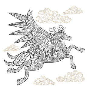 Playful Pegasus Coloring Page