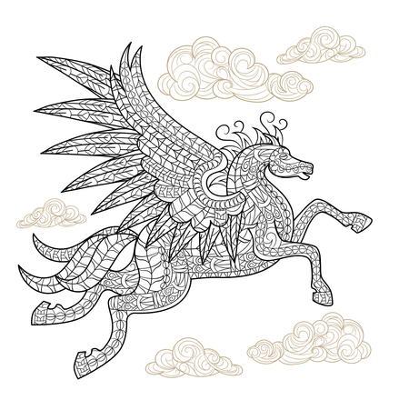 Playful Pegasus Coloring Page Favecrafts Com