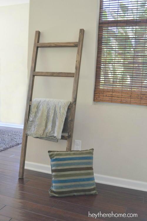 Diy Blanket Ladder Diyideacenter Com