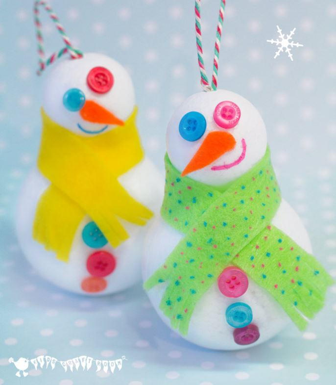 Winter Snowman 3D Craft AllFreeKidsCrafts