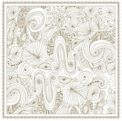 Gold Flowers Coloring Pages