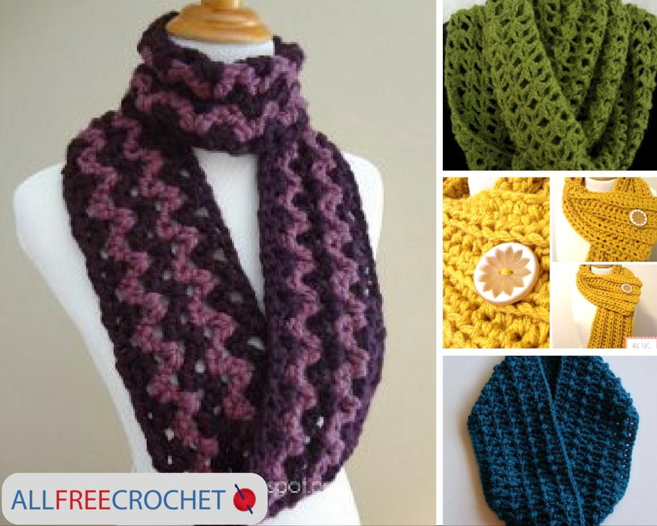 19 Quick And Easy Crochet Scarves Allfreecrochet Com