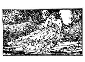 Lady by the Lake Coloring Page