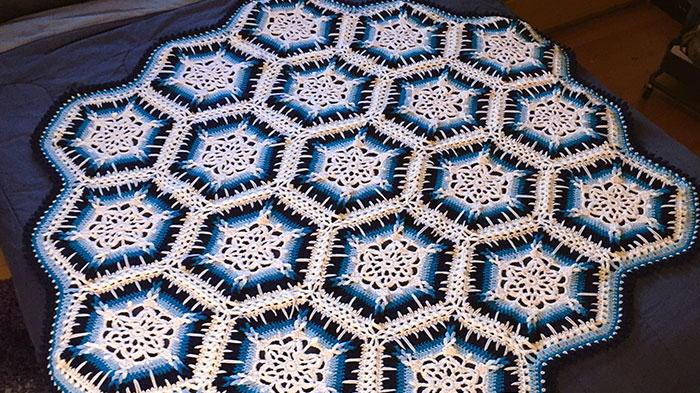 Winter Blizzard Snowflake Crochet Afghan