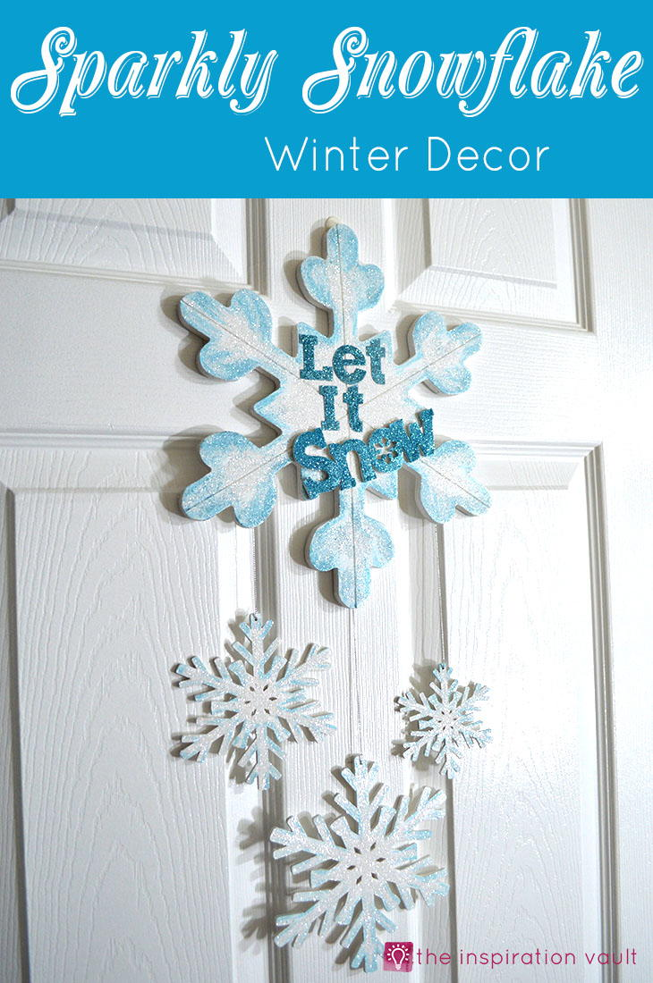 Sparkly Snowflake Door Decor AllFreeChristmasCrafts