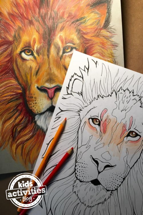 Lion Coloring Page FaveCrafts