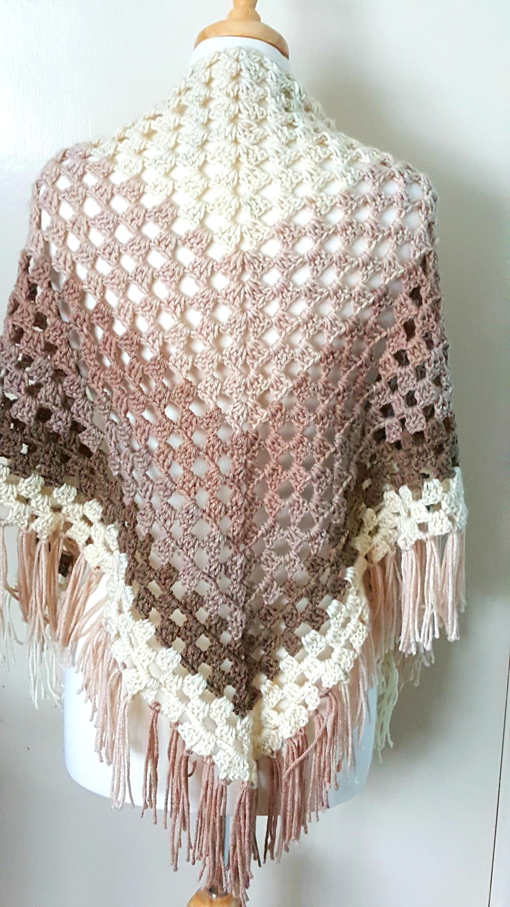 Free Download Crochet Patterns Baby Shawls : Crochet Ombre Shawl AllFreeCrochet.com