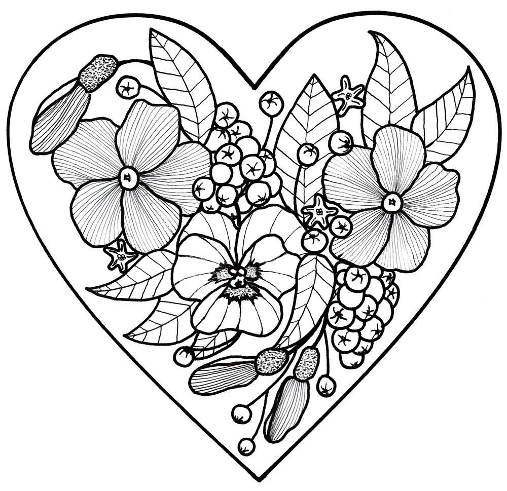 All my love adult coloring page for Adult coloring pages printable
