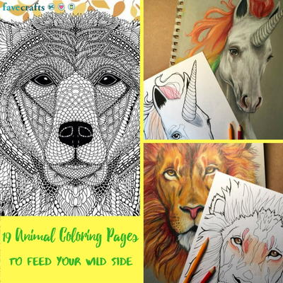 19 Animal Coloring Pages to Feed Your Wild Side