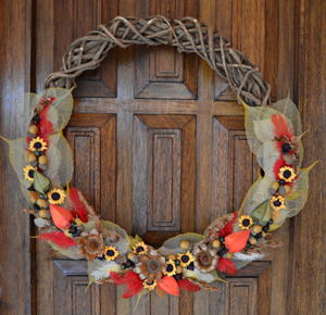 Nature's Bounty DIY Fall Wreath
