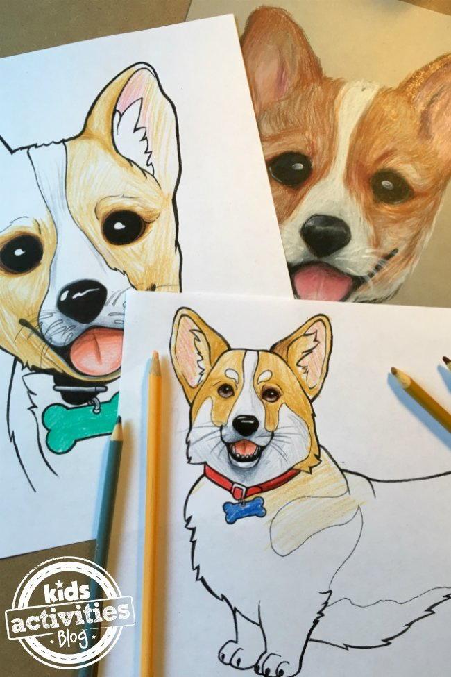 Corgi Coloring Pages