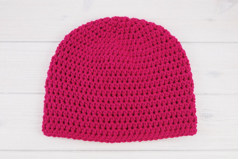 Easy Peasy One Skein Hat | AllFreeCrochet.com