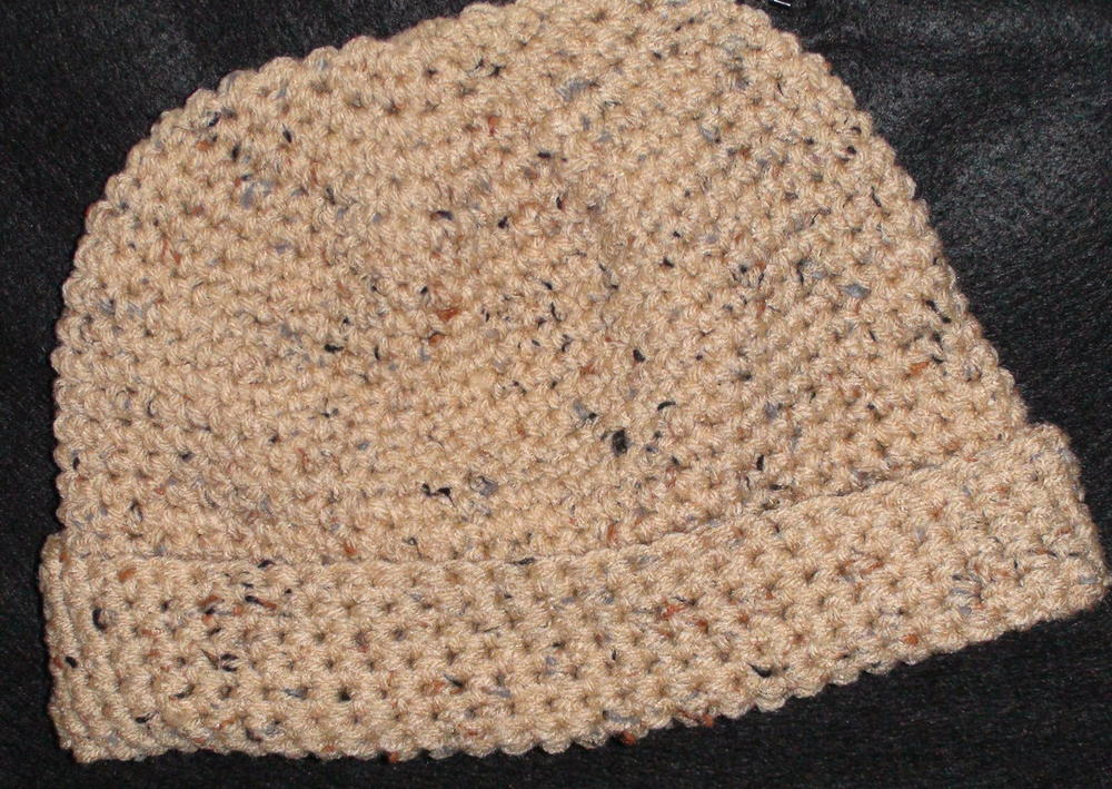 Mens Simple Crochet Hat Allfreecrochetcom
