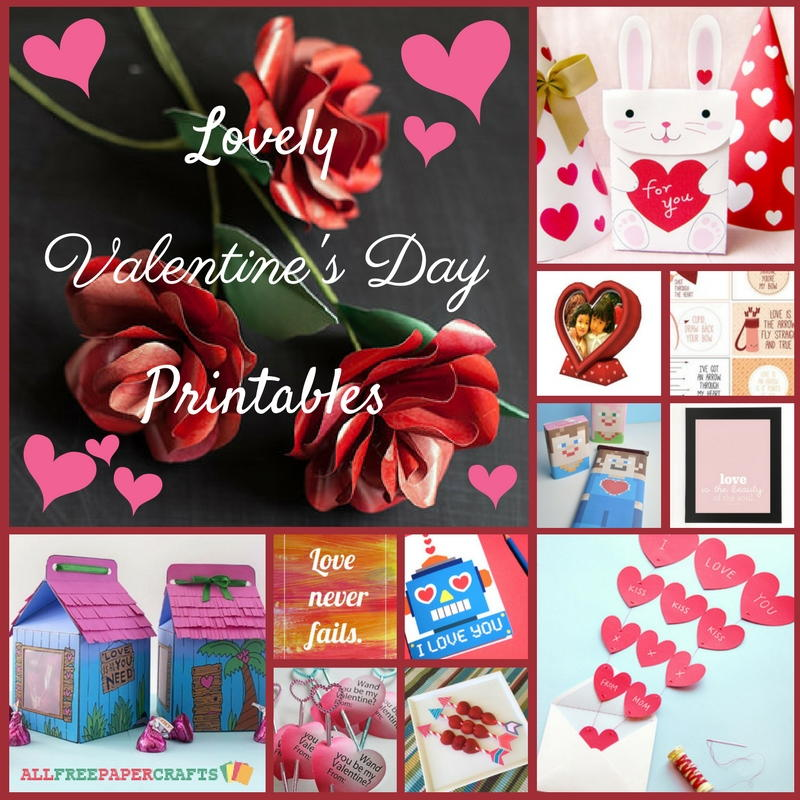photograph relating to Printable Valentines Crafts identify 19 Stunning Valentines Working day Printables