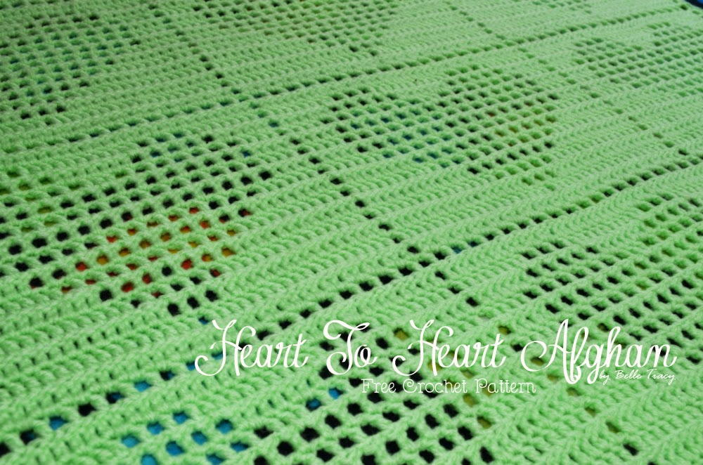 Crochet Granny Square Baby Afghan Patterns : One Skein Heart to Heart Afghan ...