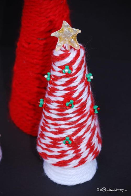 Kids Yarn Christmas Tree Allfreeholidaycrafts Com