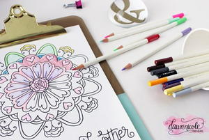 Be Good Mandala Coloring Page