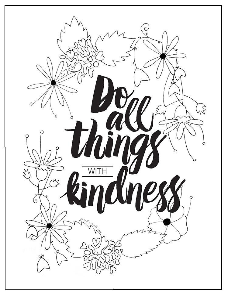 With Kindness Coloring Page FaveCrafts