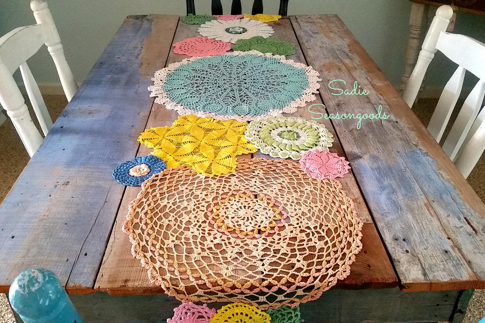Spring Doily Table Runner Allfreesewing Com