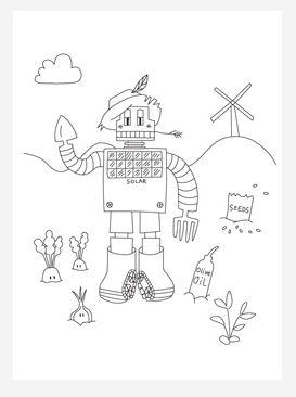 anonymous liked the article 'Solar Robot Coloring Page' in