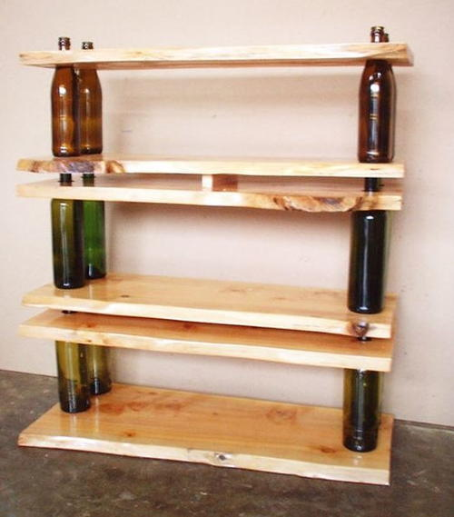 Recycled Materials Homemade Shelf and Table