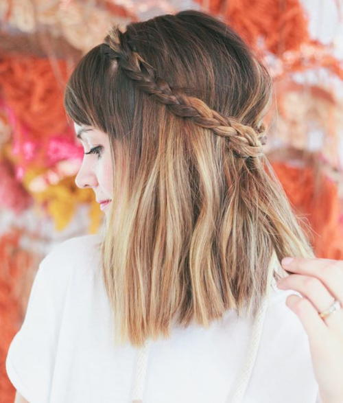 Stunning DIY Half-Up Braided Crown