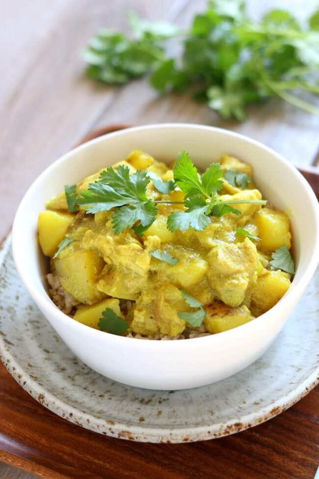 Slow Cooker Yellow Chicken Curry Recipe Allfreeslowcookerrecipes Com