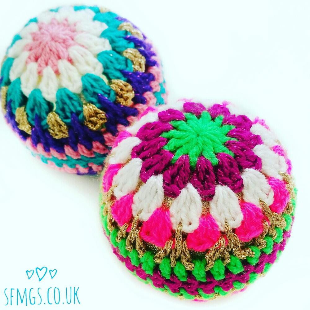 Crochet Christmas Bauble Decorations FaveCrafts.com