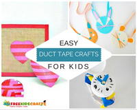 easy duct tape crafts instructions