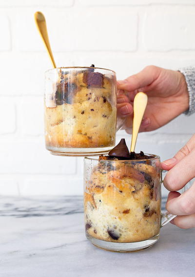 Easy Bread Pudding for Two