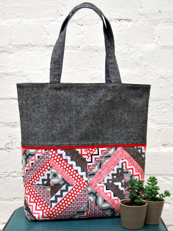 String Patchwork Tote Tutorial Favequilts Com