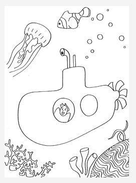 Adventure bay coloring pages ~ Submarine Adventure Coloring Page | FaveCrafts.com