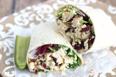 Cashew Chicken Salad & Kale Wraps