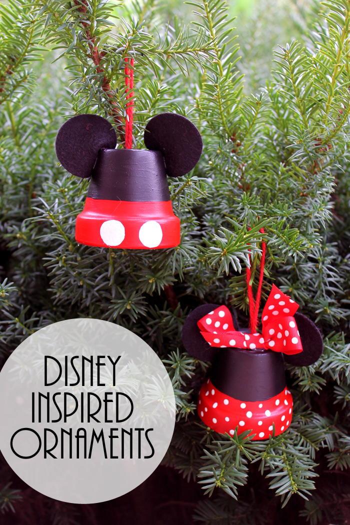Mickey Amp Minnie Disney Inspired Ornaments Favecrafts Com