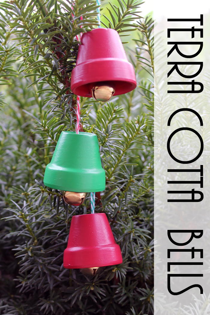 terra cotta bells diy christmas ornaments. Black Bedroom Furniture Sets. Home Design Ideas