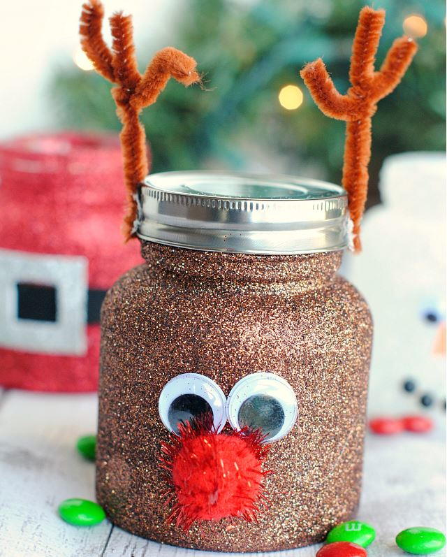 Christmassy Treat Jar Decorating Ideas